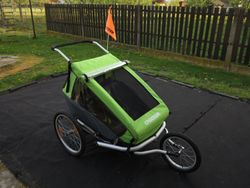 Croozer Kid for 2 green - TOP stav, 1. najitel