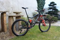 RB Bandit 675 XL, Shimano XT 11 sp., Manitou Mattoc Pro, RS Monarch Plus, Reverb 170 mm, DT Swiss